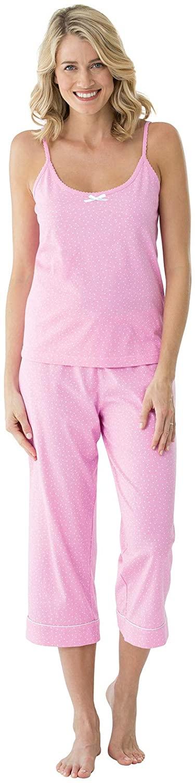 PajamaGram Womens PJs Cotton Capris - Womens Pajamas Set