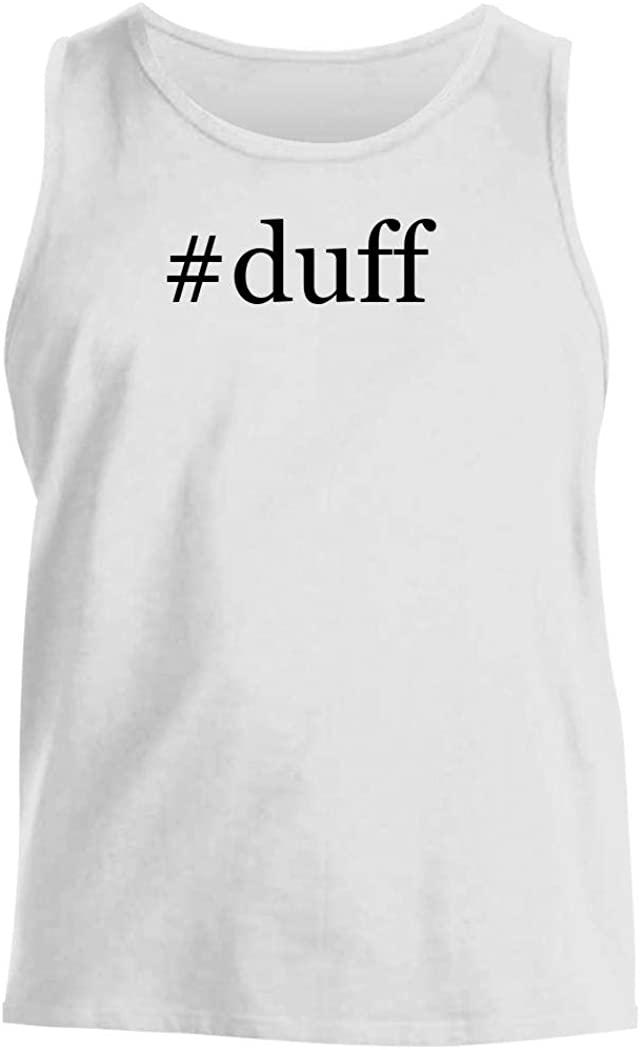 #duff - Men's Hashtag Comfortable Tank Top, White, Medium