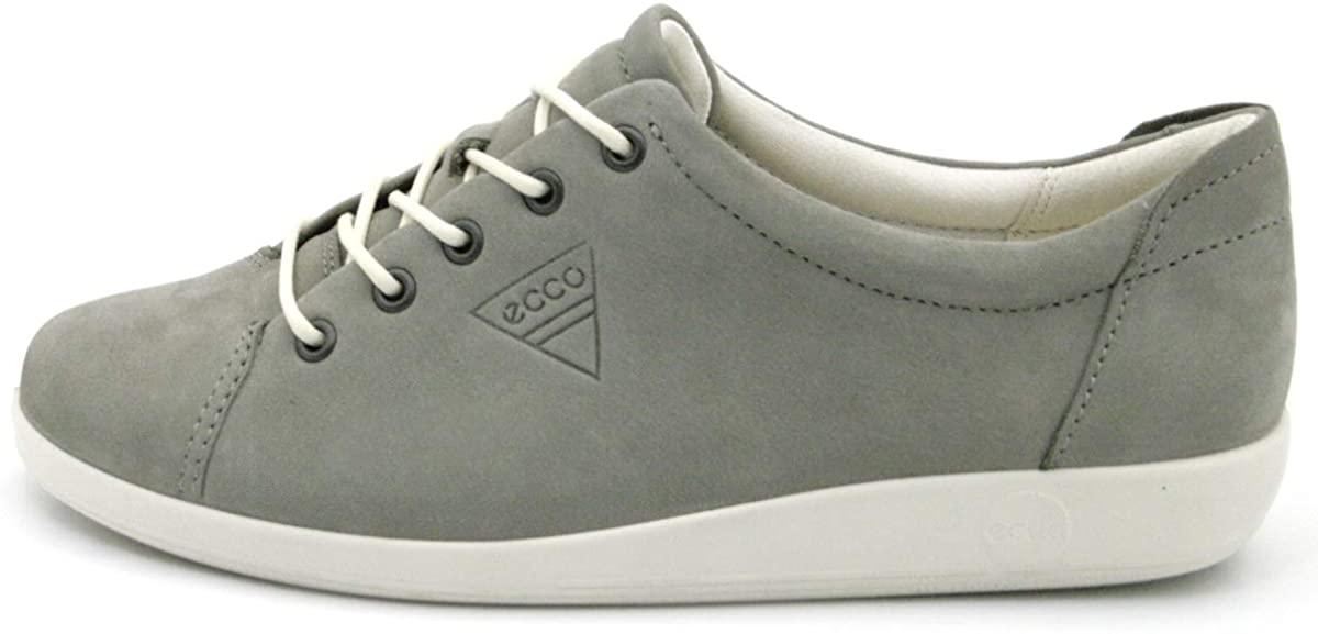 ECCO Women's Soft 2.0 Tie Sneaker, Warm Grey, 7.5 UK