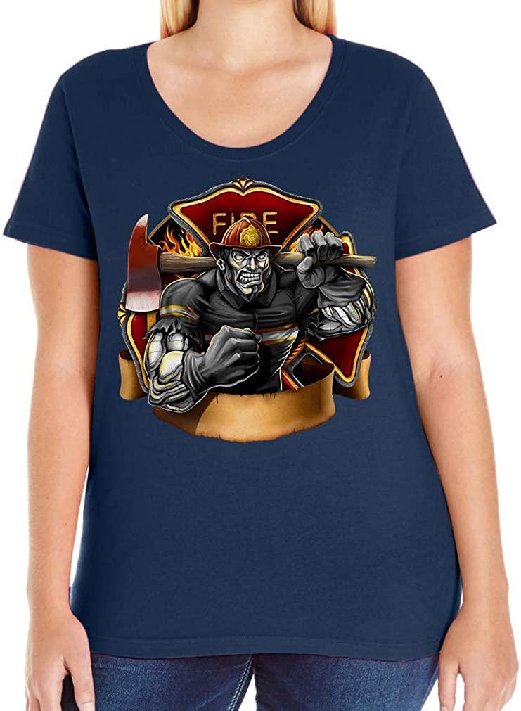 Tenacitee Women's Fireman Beast T-Shirt