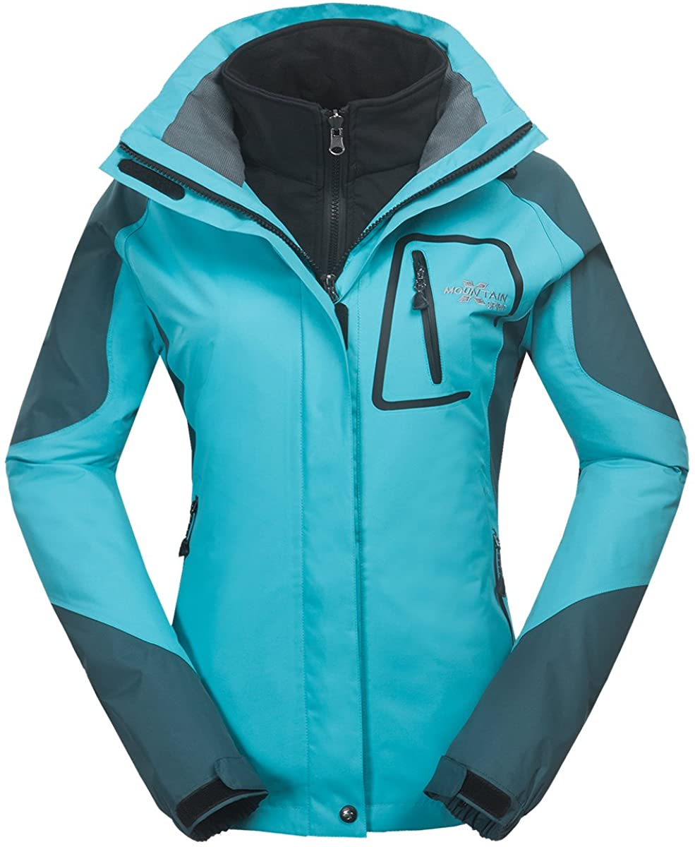 XMS Women's 3in1 Waterproof Windproof Sport Jacket Coat Lady Breathable Outwear