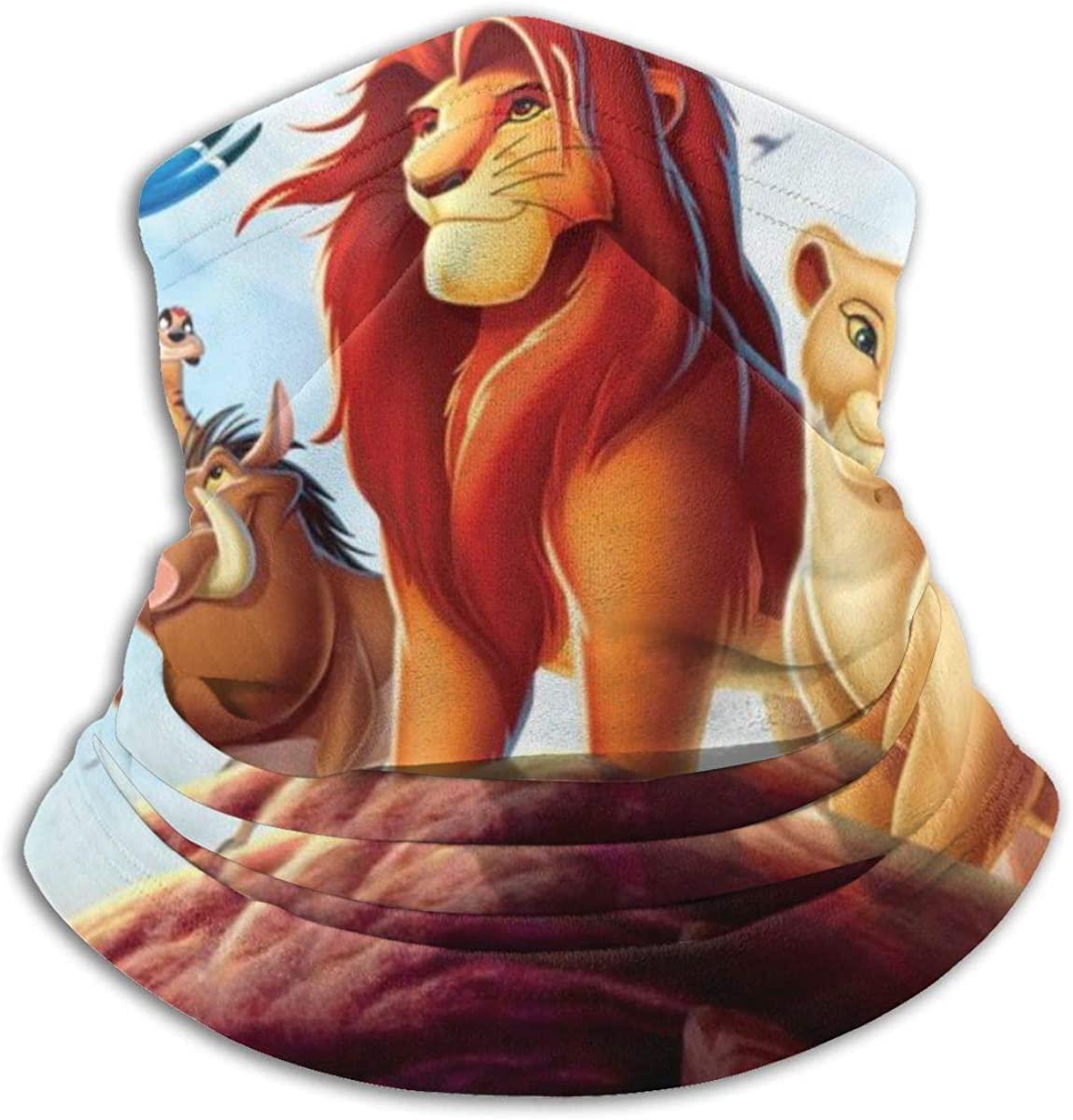 The Lion King Microfiber Tube Neck Warmer Face Mask Shield Protective Bandana Headband & Beanie