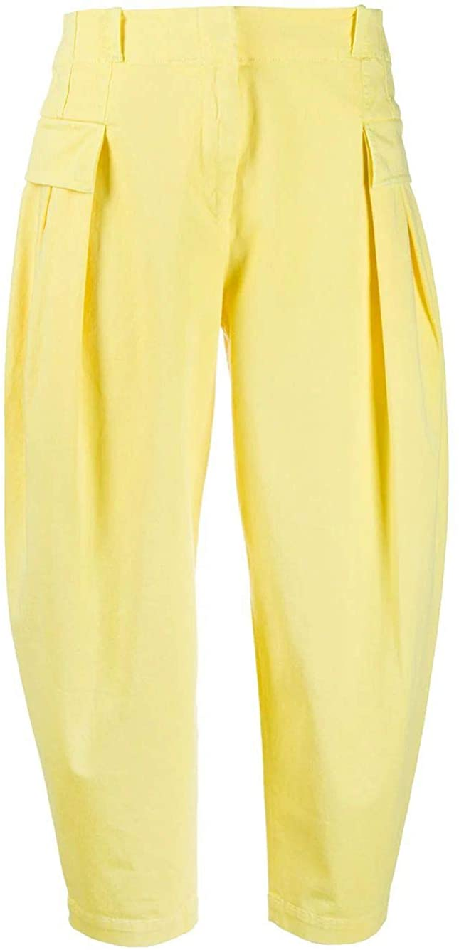 Stella McCartney Luxury Fashion Woman 600312SLA537200 Yellow Elastane Pants | Spring Summer 20