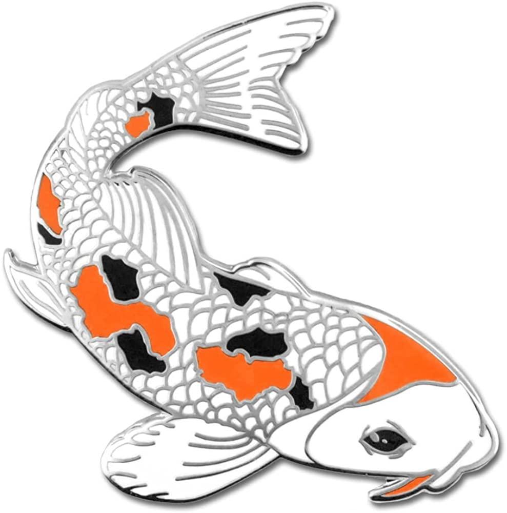 PinMart Japanese Koi Fish Animal Courage Trendy Enamel Lapel Pin