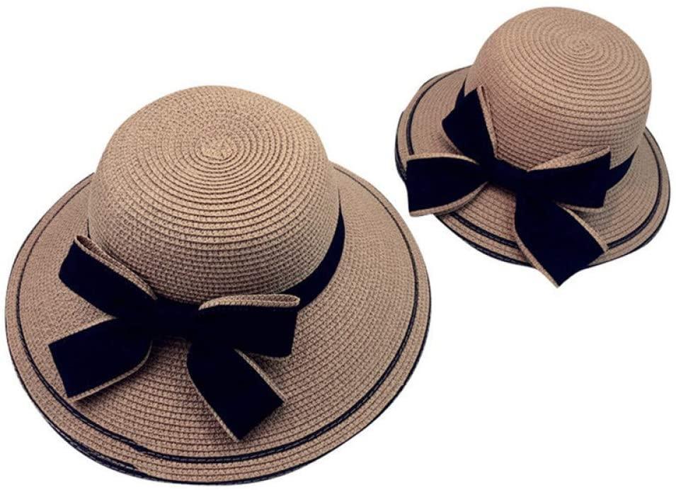 QNN Sun Hat Summer Girl Beach Bow Flat Hat Sun Hat,1