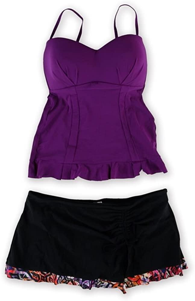 PROFILE Womens Starlet Aztec Skirt 2 Piece Tankini