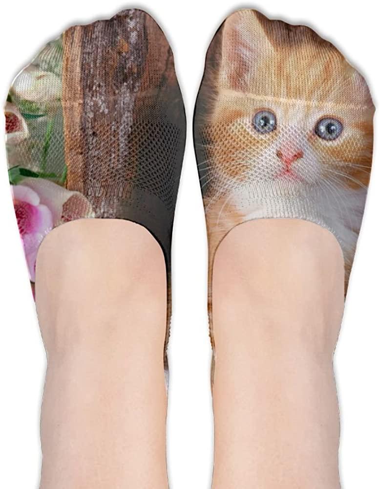 Cat Womens Low Cut Socks No Show Liner Boot Sock Athletic Socks Thin Fit