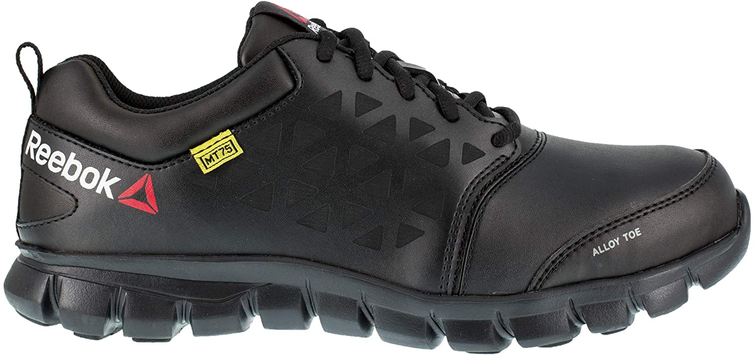 Reebok Womens Black Leather Oxfords Sublite Cushion Work AT 11.5 W
