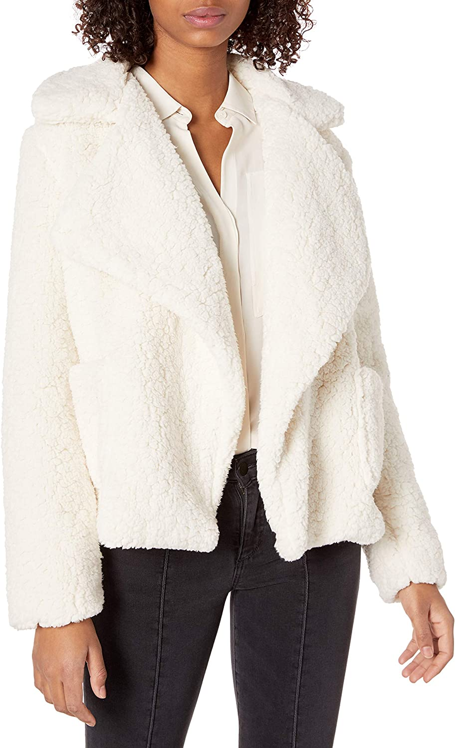 Jack by BB Dakota Junior's Soft Skills Faux Fur wubby Jacket, Ivory, Medium