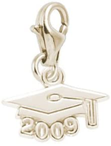 Rembrandt Charms Graduation Cap 2009 Charm with Lobster Clasp