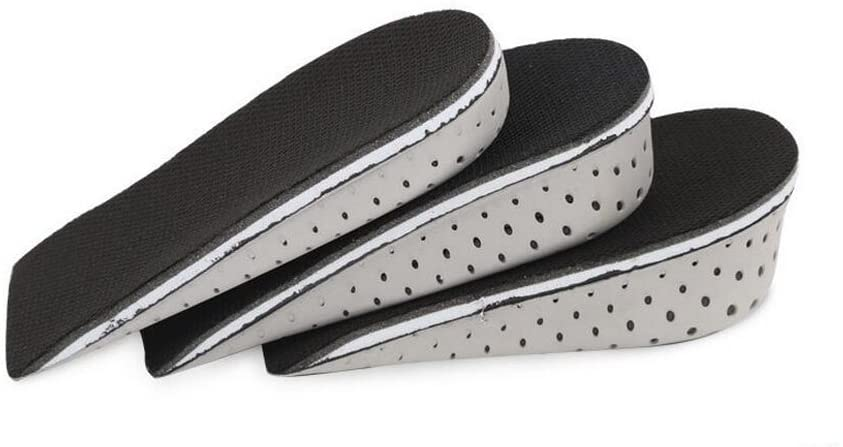 1Pair Breathable Memory Foam Height Increase Insole Invisible Soft Increased Heel Lifting Inserts Short Boots Lifts Pads Elevator Insoles for Unisex Men Women(2.3cm Height)