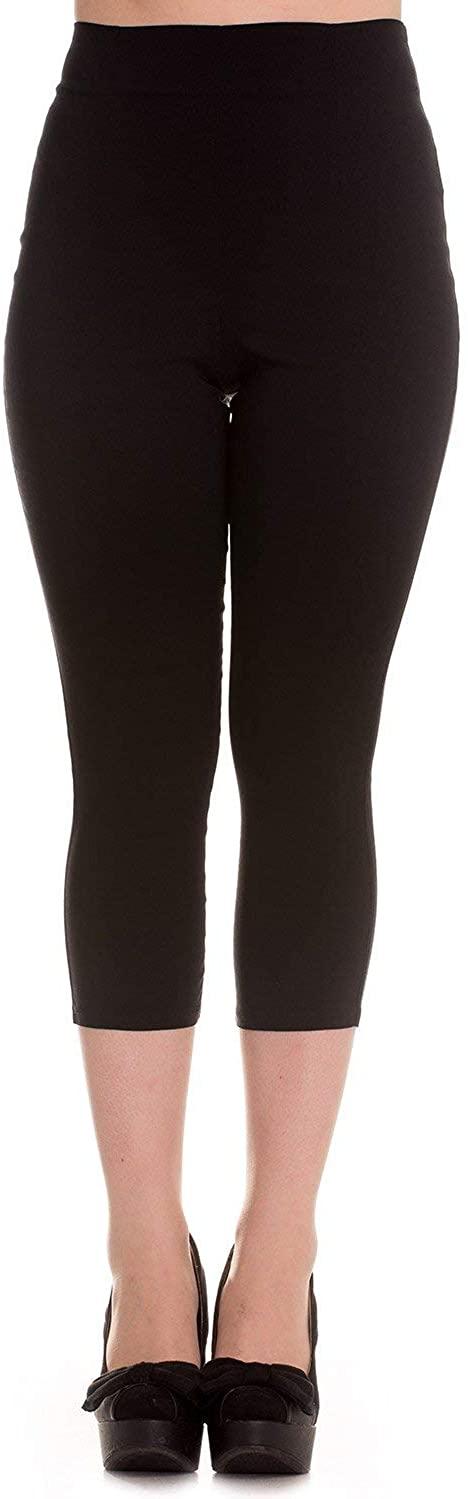 Hell Bunny Tina 50s Vintage Retro Style Capri Trousers 3/4 Length Pedal Pushers
