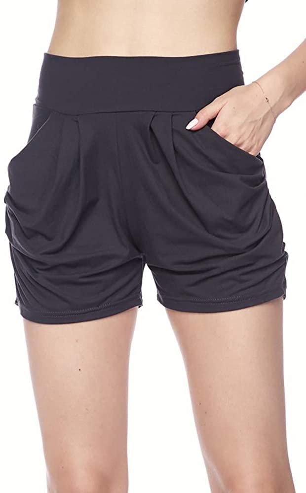 Makkat Women's Buttery Soft Harem Shorts