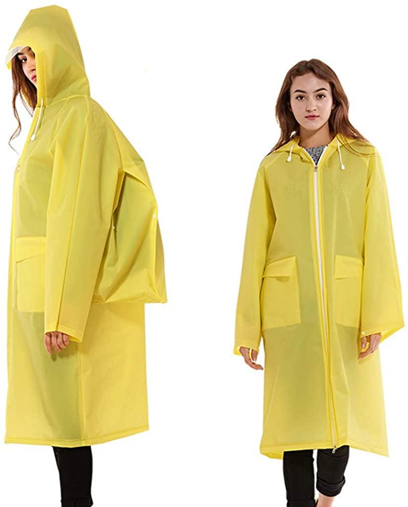 sea jump Long one-Piece Raincoat Portable Adult EVA Schoolbag Bit Cloak Jacket Waterproof Breathable with Zipper