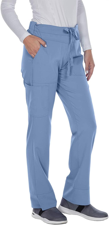 Grey's Anatomy Signature Women's 3 Pocket Low Rise Scrub Pant, Ciel Blue, X-Large Petite