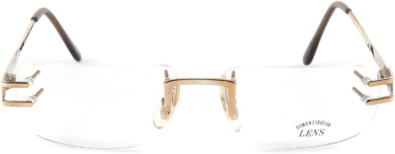 NEW FACET-15 GOLD EYEGLASSES FRAME GLASSES RIMLESS FRAME 53-16-140 B31mm Japan
