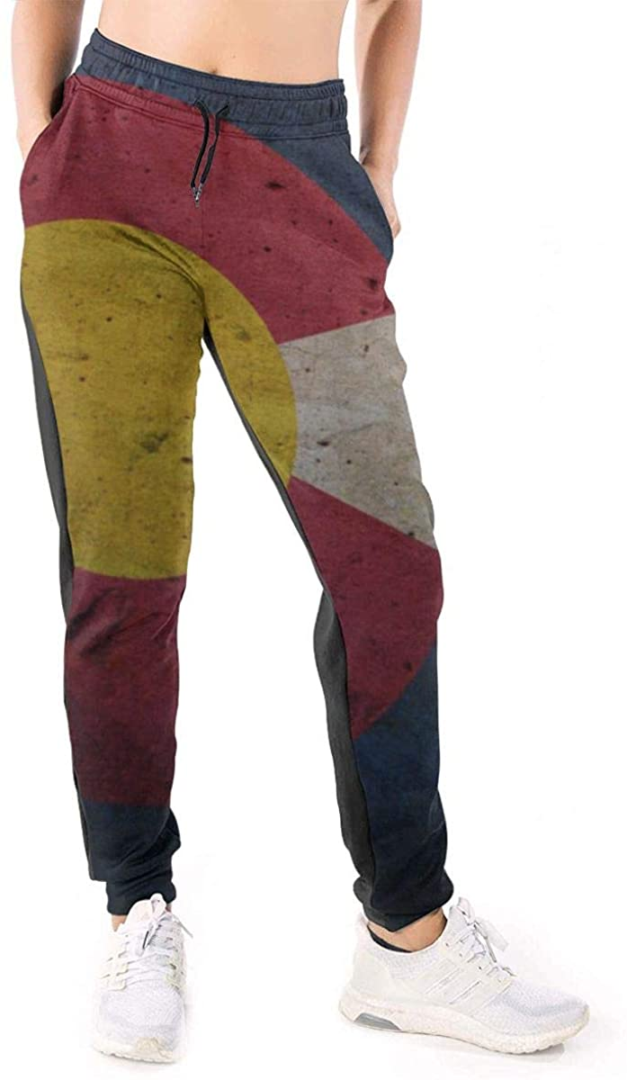NOT Colorado Flag Women's 3D Printed Sport Jogging Pants with Pockets