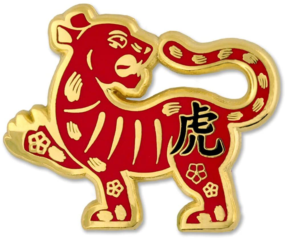 PinMart Chinese Zodiac Year of The Tiger New Year Enamel Lapel Pin