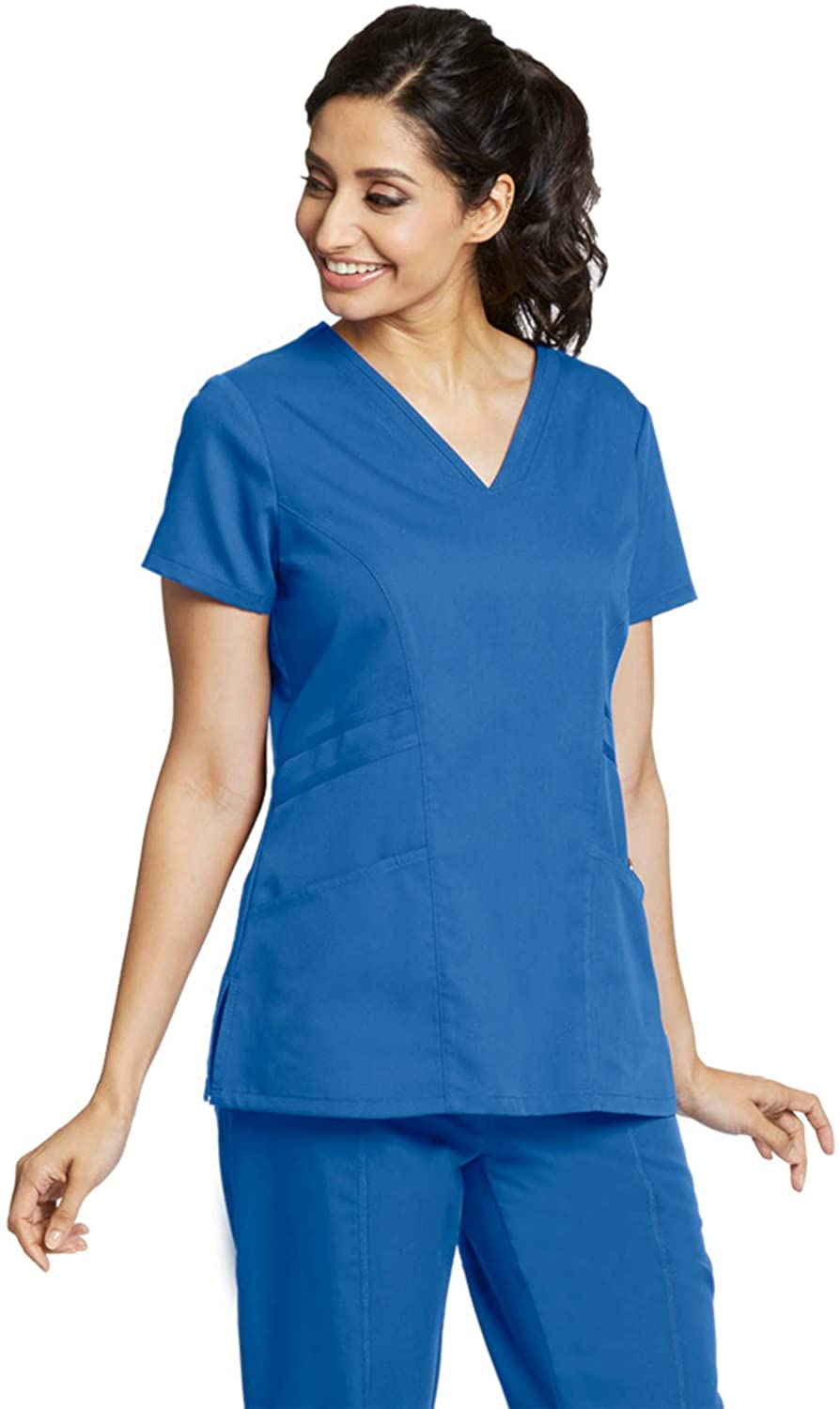 Greys Anatomy 41452 Womens V-Neck Scrub Top New Royal XS