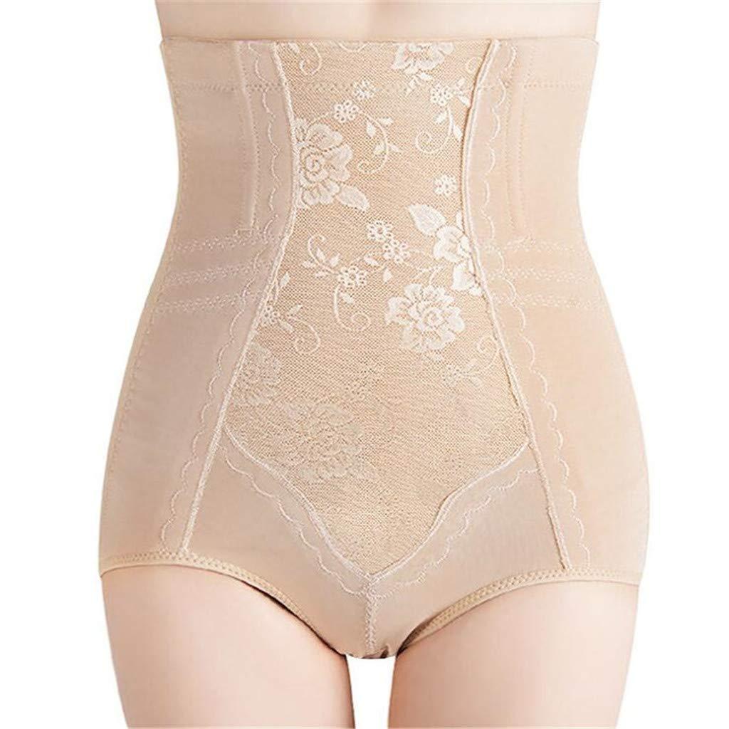 Women Seamless Bodysuit Shapewear Thong Girdle Bust Smooth Firm Slim Breathable Control Sexy High Waist Tummy for Daily Wear Bodysuit Trainer Underwear Briefs,Flesh