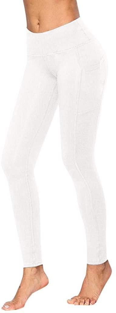 terbklf Women Workout Out Pocket Leggings Fitness Sports Running Yoga Athletic Pants
