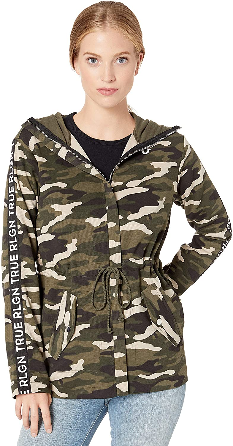 True Religion Women's CAMO Funnel Jckt