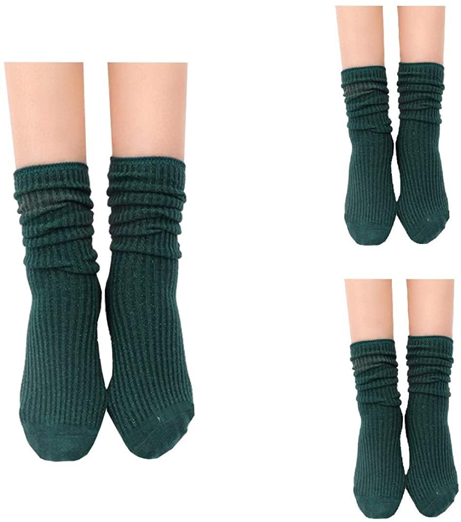 Women's Lightweight Cotton Slouch Socks Shiny Filigree Loose Socks