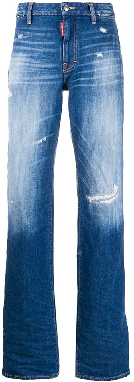 DSQUARED2 Luxury Fashion Woman S75LB0314S30663470 Light Blue Elastane Jeans | Spring Summer 20