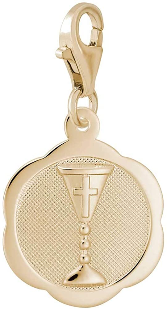 Rembrandt Charms Communion Chalice Charm with Lobster Clasp, 10K Yellow Gold