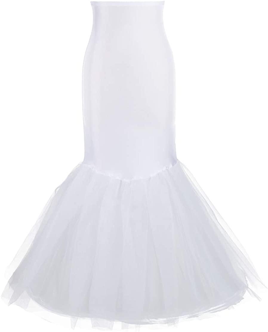 Mermaid Petticoat for Mermaid Prom Gown Crinoline Slips Underskirt for Mermaid Wedding Dress