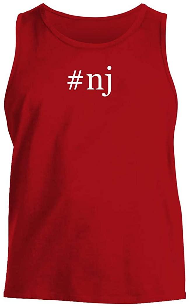 #nj - Men's Hashtag Comfortable Tank Top, Red, Medium