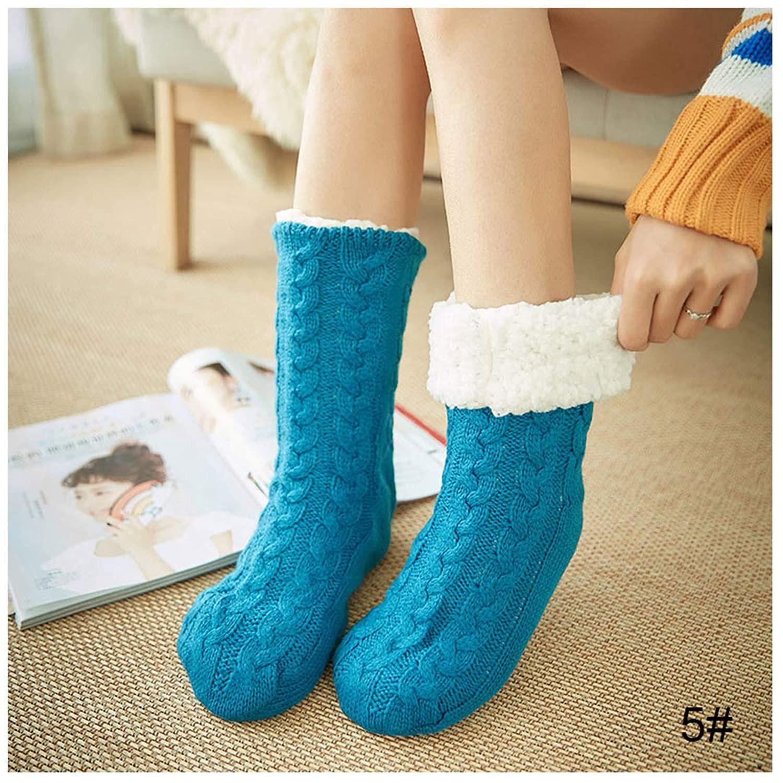 Women Warm Socks Cotton Knit Floor Non Slip Super Thicken Soft Socks Girl Plus Keep Warm Female Socks