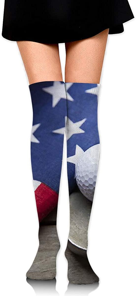 Dress Socks American Golf Long Knee Hose Novelty Hold-Up Stockings For Yoga