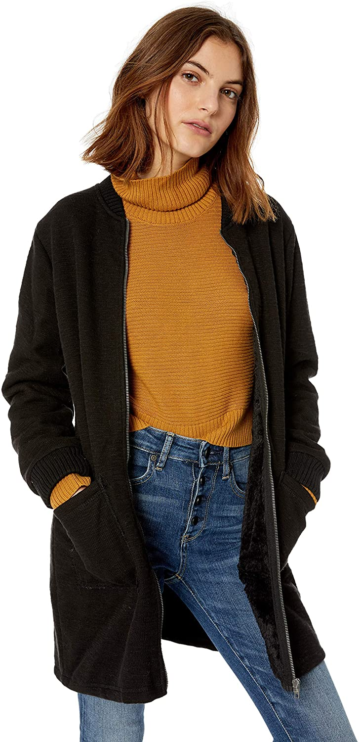 cupcakes and cashmere Womens Bill Knit Bonded Shearling Jacket w/Rib
