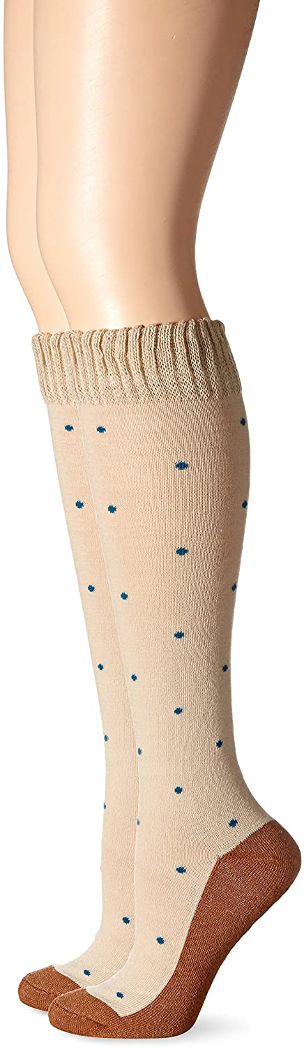 Copper Sole Women's Fashion Knee High Dotted Work Socks
