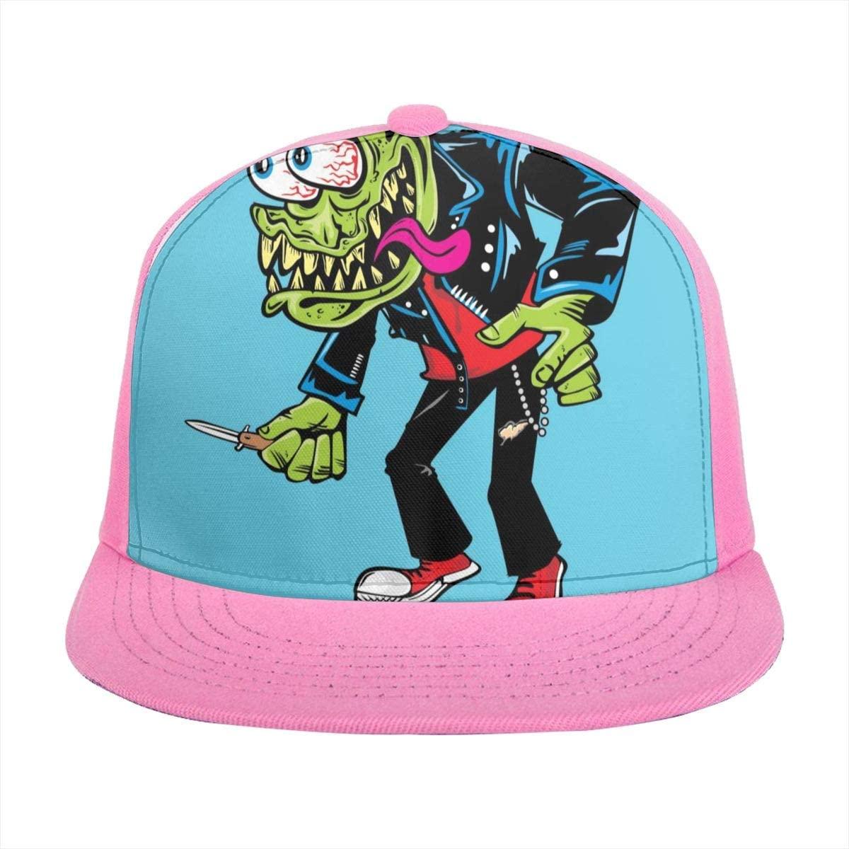 Baseball Cap Vector Monster Sun Visor Flat Brim Hats Cap for Women Men Summer