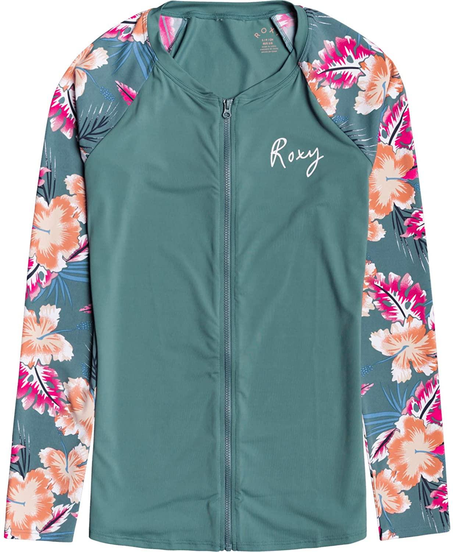Roxy Womens Zip Up Long Sleeve Rashguard