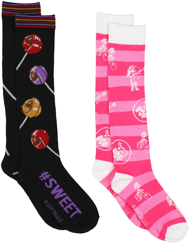 Charms Candy Tootsie Roll Pop Womens 2 pack Knee High Socks (Teen/Adult)