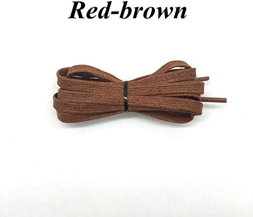 HEEGNPD 1Pair Waxed Flat Shoelaces Leather Waterproof Casual Shoes Laces Unisex Boots Shoelace Length 60 80 100 120 140 160 180CM P3,6,180cm