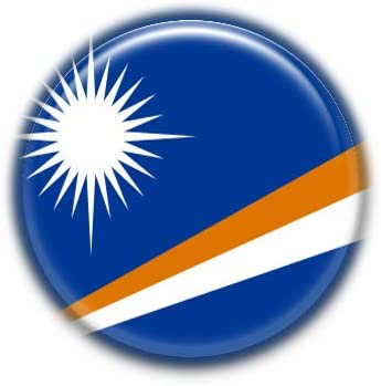 Marshall Islands : National Flag, Pinback Button Badge 1.50 Inch (38mm)