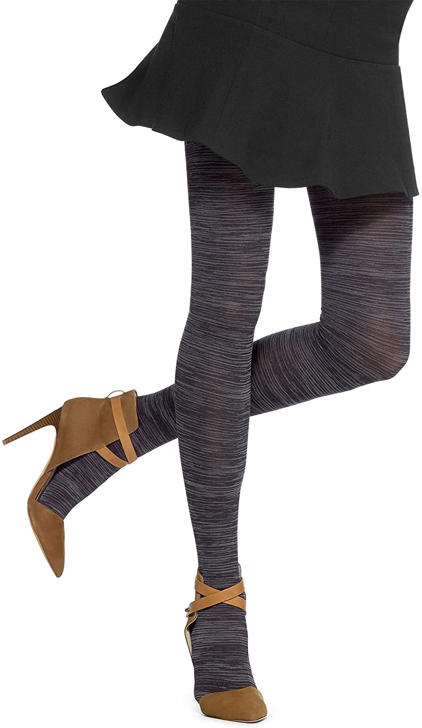 Hue Women's Melange Tights, Black, M/L