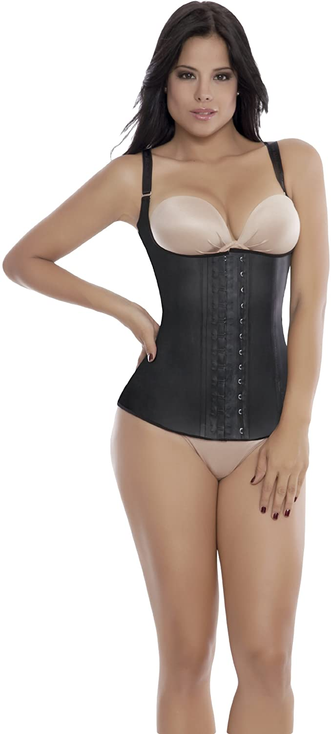 Ann Michell Semi Vest Latex Waist Cincher 38 Black Large