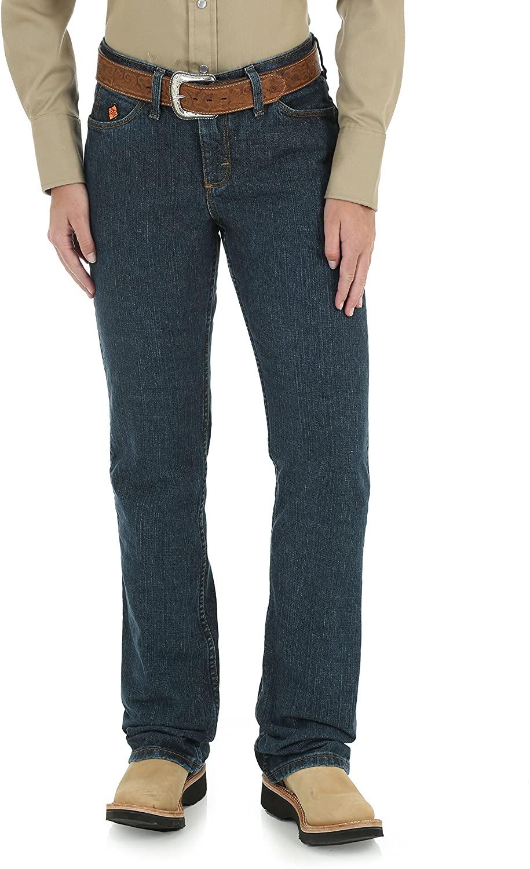 Wrangler RIGGS WORKWEAR Women's Flame Resistant Western Midrise Boot Cut Jean