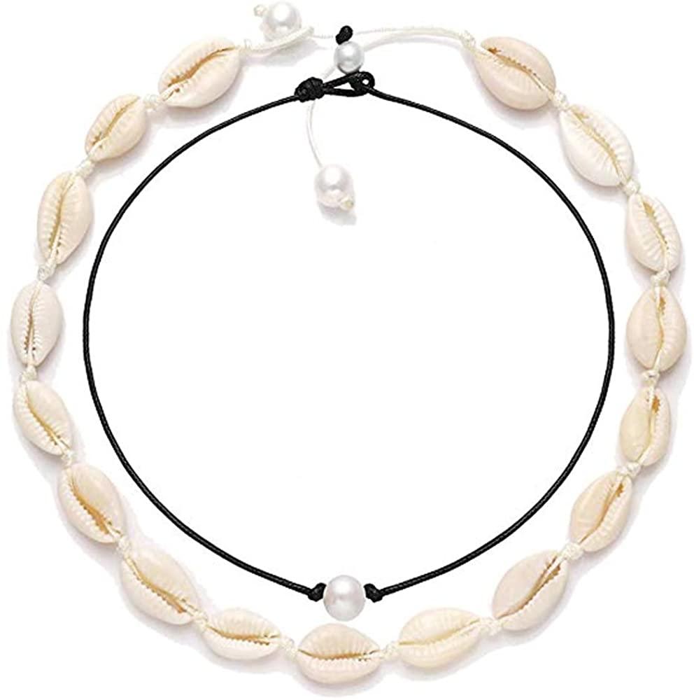 Seashell Choker And Pearls Chokers Set Statement Necklace