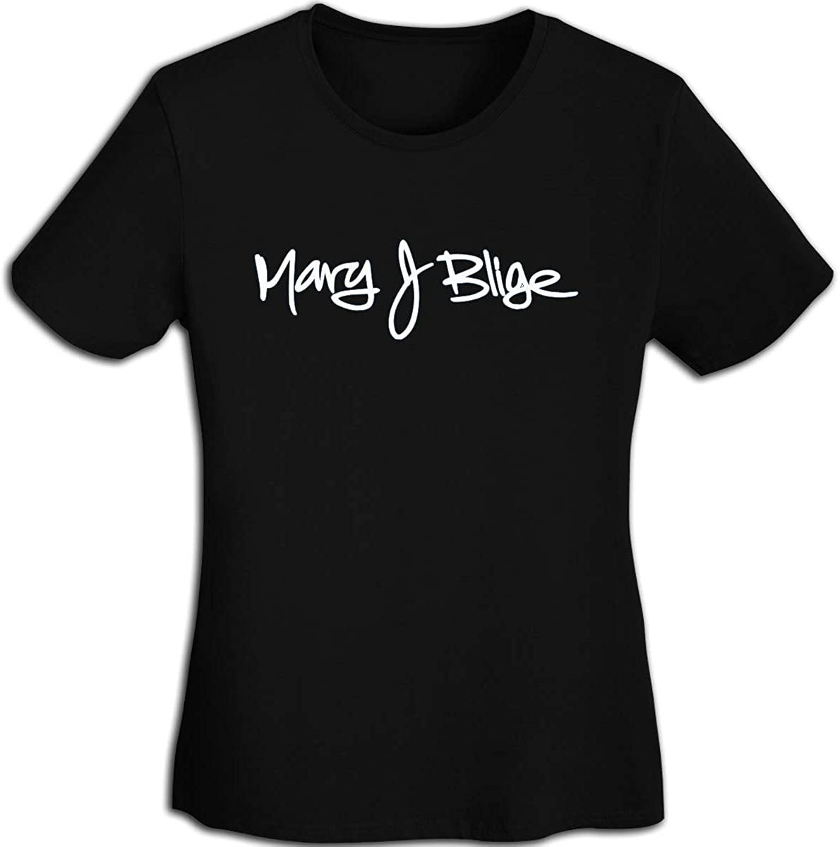 FankTasf Mary J Blige Women's Fashion T-Shirt Teen Girl Printed Short-Sleeved T-Shirt
