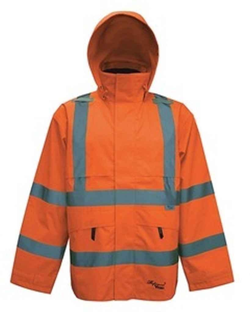 Professional Journeyman 300D Trilobal Rip Stop Safety Bib Pant Color: Fluorescent Orange, Size: XXXX-Large