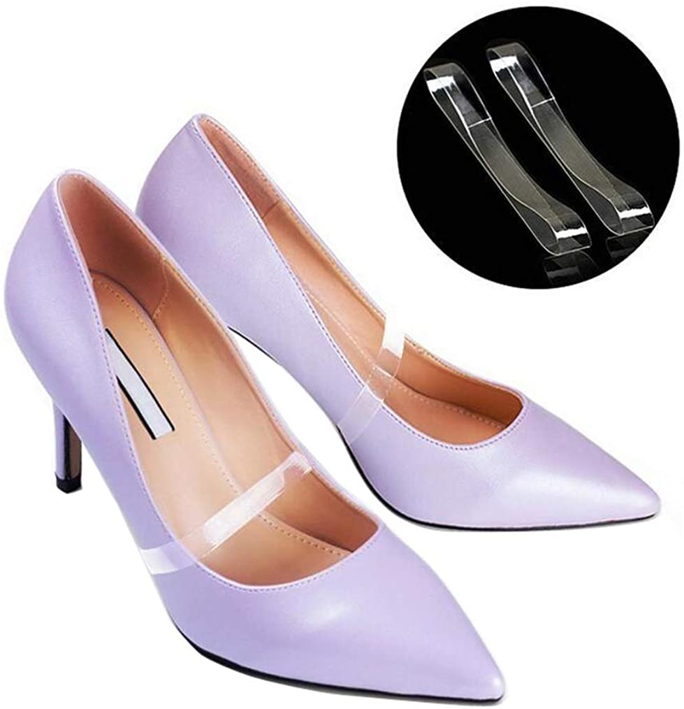 5 Pairs Women Lady Girls Clear Silicone Anti-slip Invisible Shoe Straps Band for Holding Loose High Heel Shoes Shoelace Accessories