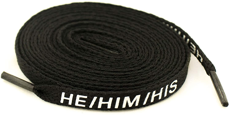 STAR Laces HE/HIM/HIS (1 Pair) Shoelaces