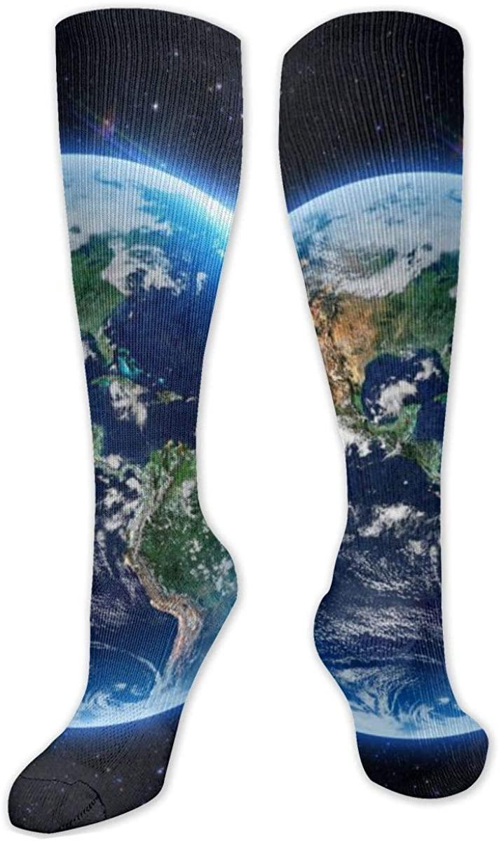 Universe Knee High Socks Leg Warmer Dresses Long Boot Stockings For Womens Cosplay Daily Wear