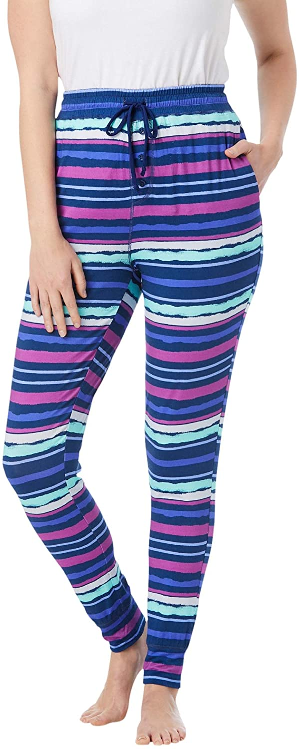Dreams & Co. Womens Plus Size Relaxed Pajama Pant